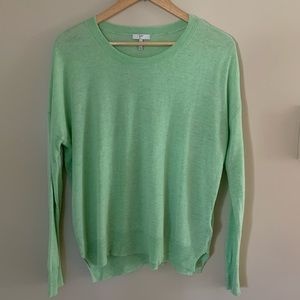 Joie Scoop Neck Mint Green Lightweight Sweater S